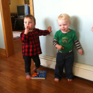 A meeting of the toddler minds.