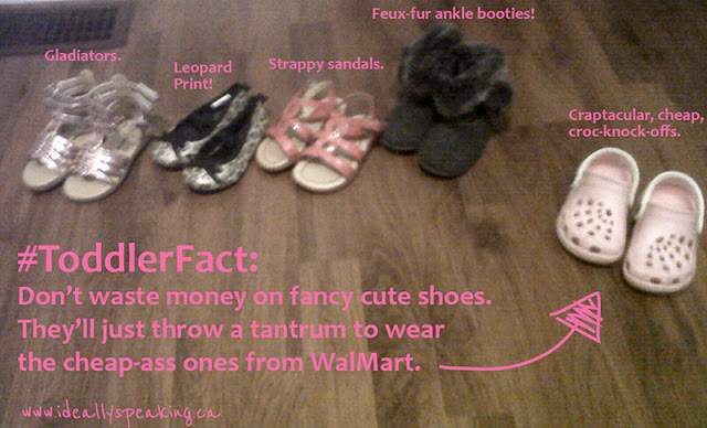 #ToddlerFact: They will throw a tantrum to wear same shoes everyday