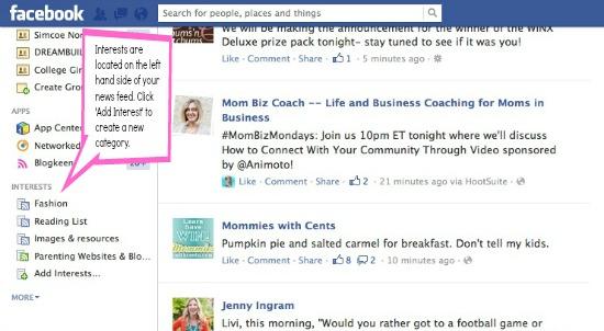 organize facebook interest lists, facebook lists, social media