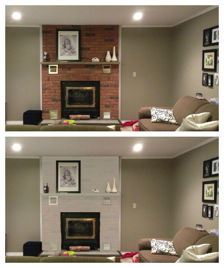 home decor, fireplace, brick fireplace, paint brick fireplace, DIY fireplace,
