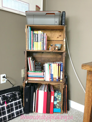 home office decor, colourful home office, home library, home study, decorating house with Pinterest, Canadian mom blogger, decorating home office