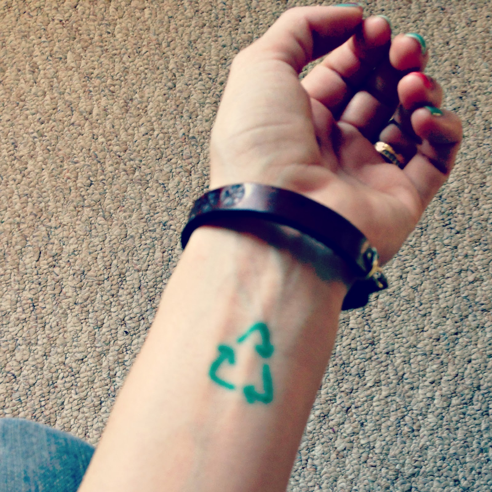 Earth Day 2013, earth day resolutions, reycling tattoo, greener lifestyle