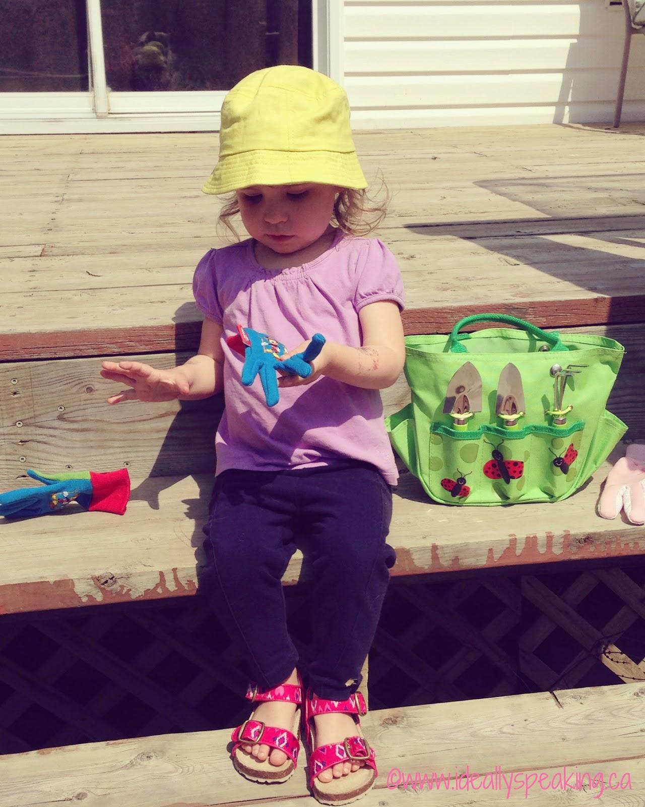 My little garden helper. Toddler sized gardening tools.