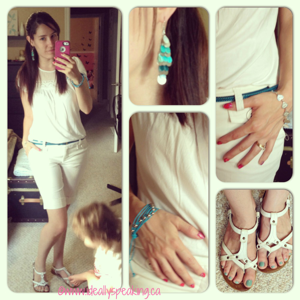 Season trend - Summer whites with pops of turquoise.