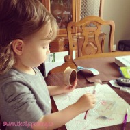 Wordless Wednesday with Linky: DIY Canvas Art
