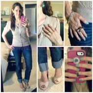 Ideal #OOTD: Boyfriend Jeans, Girly Cardigan And Pumps