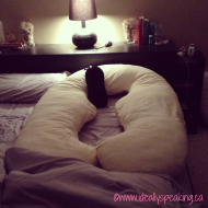 #WordlessWednesday with linky: Maternity Body Pillow