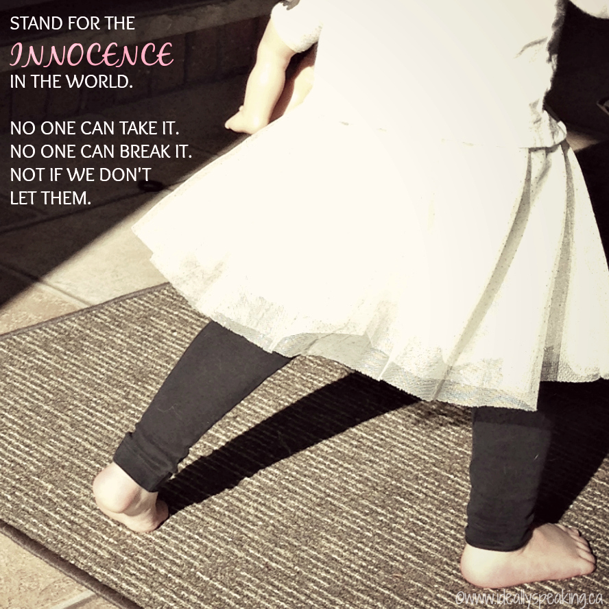 Stand for the innocence in the world, child's rights, child abuse victim
