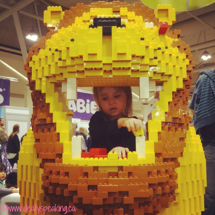 Great Lego display at BabyTime Show Toronto