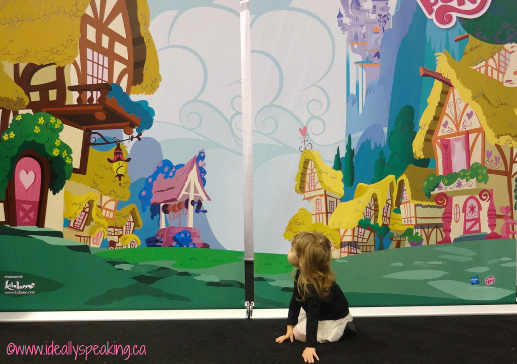 My Little Pony fun at the Play-Doh play station at BabyTime Show Toronto
