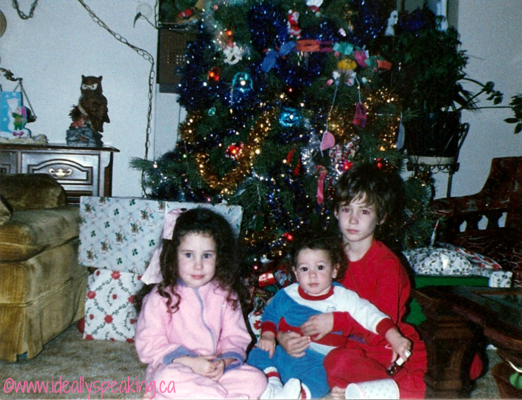 Christmas morning, 1988.