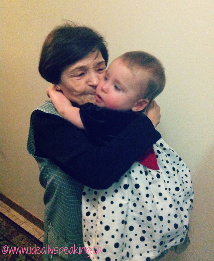 Lilly with great-Nana on Christmas day, 2011.