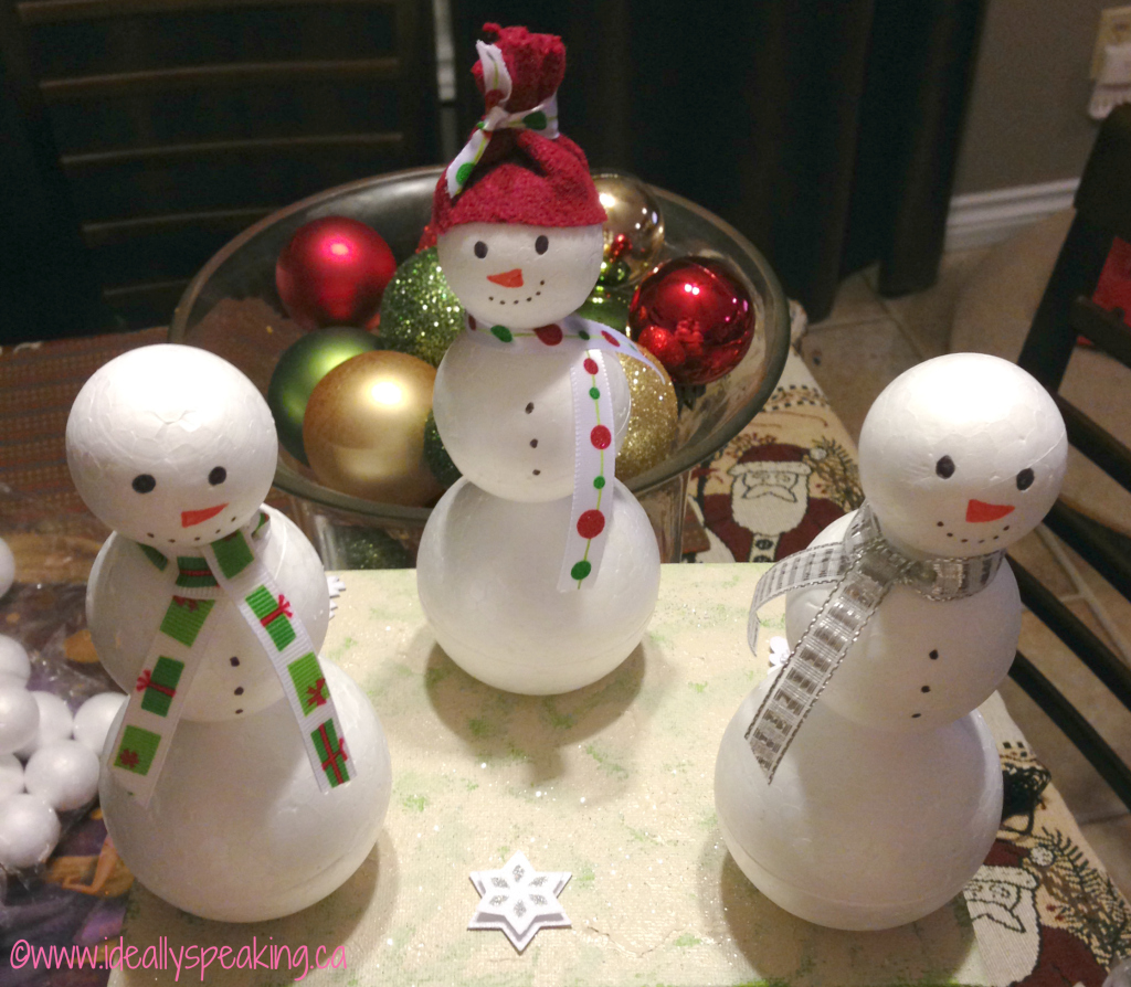 DIY Snowman Christmas Craft