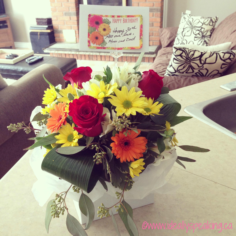 Wordlesswednesday with linky my 30th birthday ideally speaking birthday flowers izmirmasajfo Images
