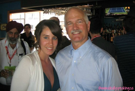 Meeting Jack Layton in Halifax, summer 2009.