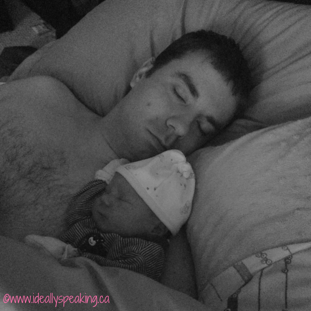 Some early morning snuggles with Daddy.