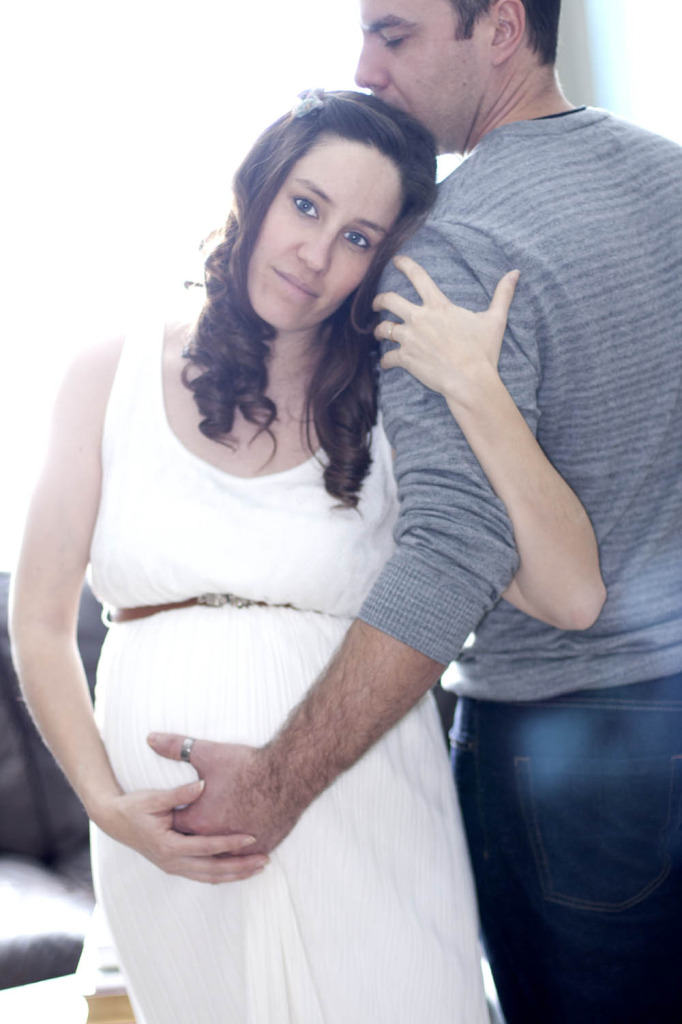 Beautiful maternity photo with couple