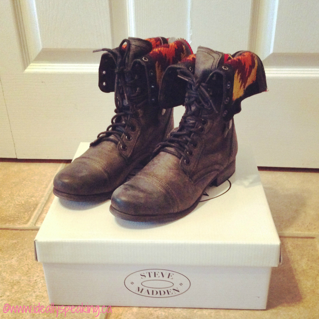Love in the form of combat style boots.