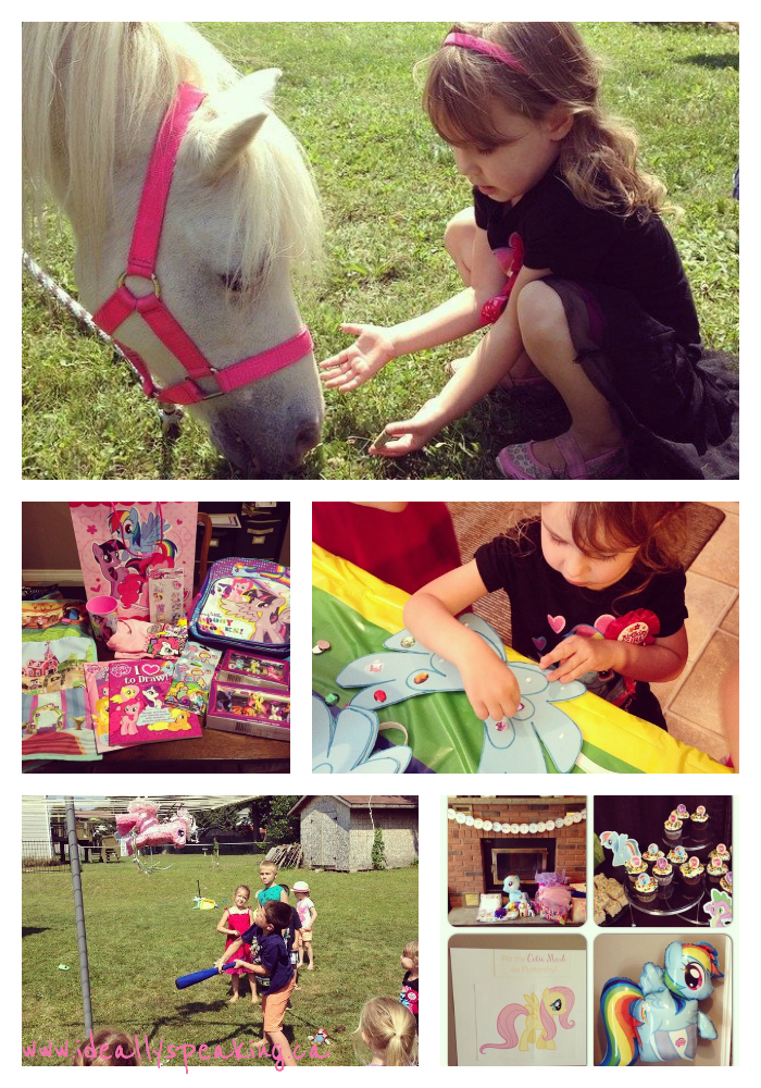 Our My Little Pony birthday party.