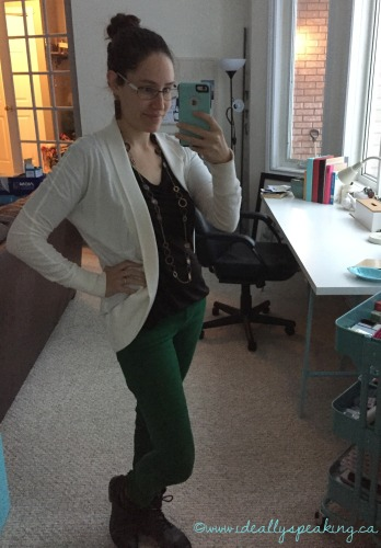 Green Skinny Jeans and Combat Boots, everyday fashion blogger