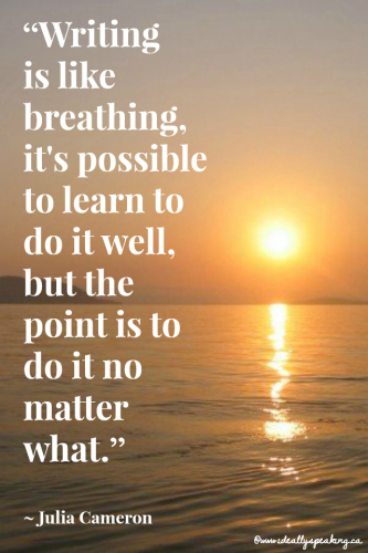 Writing is like breathing quote