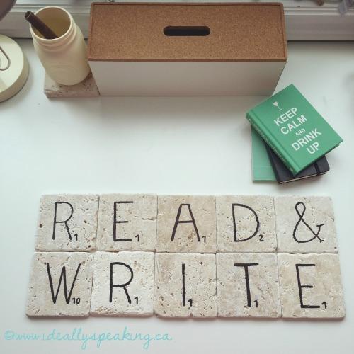 DIY Scrabble Tile Drink Coasters