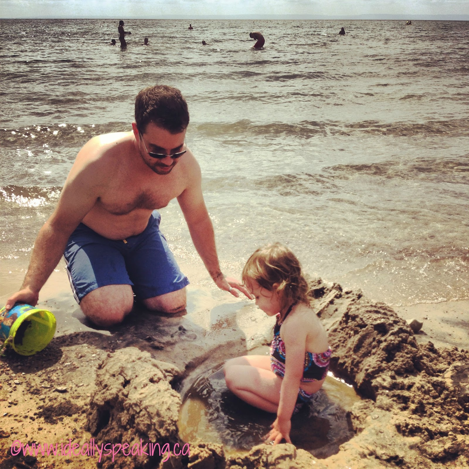 Family beach day on Georgian Bay