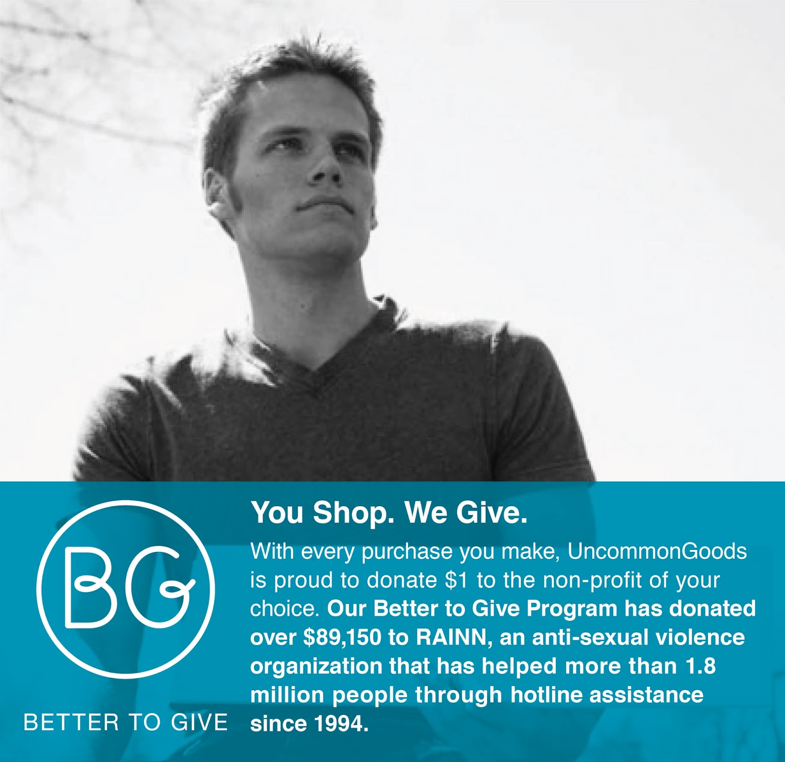 Better to Give charity program from UncommonGoods!