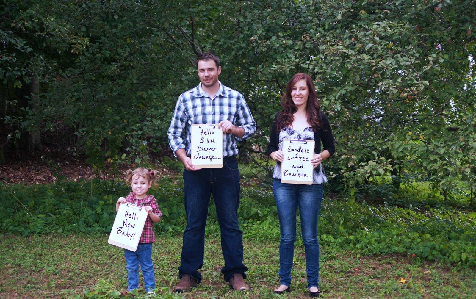 Hilarious pregnancy announcement.